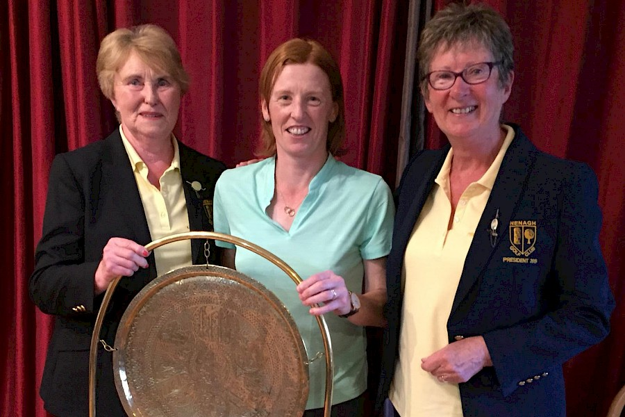 Deirdre Hughes recent winner of the Kit Renehan Trophy at Nenagh Golf Club. Pictured with Mary O'Shea( Lady Captain) and Toni Brophy(Lady President).