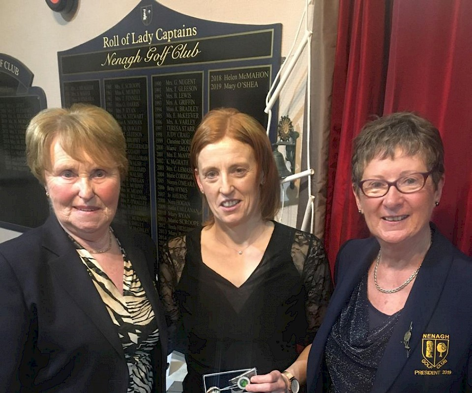 Golfer of the Year 2019 Deirdre Hughes.